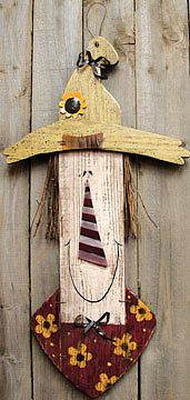 Cute basic shapes - New Harvest Sign Distressed Wood Plaque Country Scarecrow 27 Inches