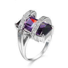 Uno de 50 Designers Style Statement Cut Amethyst Sterling Silver Ring 8 #Statement