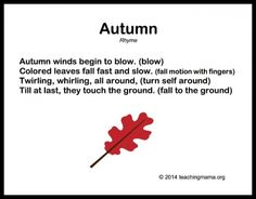 Autumn Songs for Preschoolers