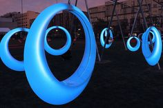 Swing Time: Glowing LED Hammocks Change Color When You Move