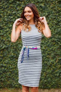 Vestdo básico listrado da marca Coleteria ♡ - Coletes femininos e infantis - Coleteria   sempre♡