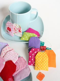 Sew pretty tea bags for tea parties