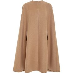 Oscar de la Renta Tan Camel Hair and Wool Cape (€2.755) ❤ liked on Polyvore featuring outerwear, cape, coats, jackets, oscar de la renta, tan cape, camel wool cape, woolen cape and tan cape coat