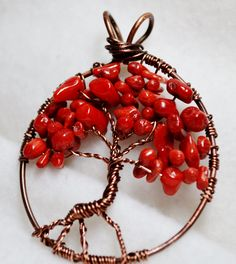 Artbeads Designer Wire creates the base of Artbeader Susan's wire-wrapped tree of life design.