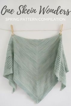 These patterns use only one skein of sock yarn (or less)! #knittingpattern #knitting