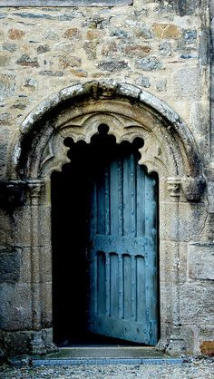 .old blue door