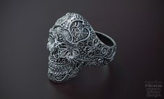 zbrush skull ring - Google Search