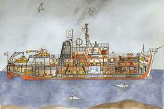 Belafonte illustration from The Life Aquatic