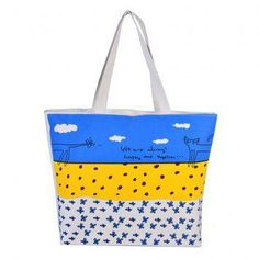 Pagry Happy Together Tote Bag (White)