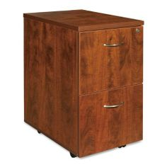 Lorell LLR69431 Mobile Pedestal- File-File- 16in.x22in.x28-.25in.- Cherry by Lorell. $213.30. Mobile pedestal offers a high-quality laminate construction and a file/file configuration. Design includes 3mm PVC edges and adjustable floor guides. Each file drawer holds letter-size hanging folders with tabs. Locking pedestal features brushed aluminum drawer pulls.
