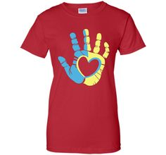 Down Syndrome Awareness Hand Unisex Tshirt