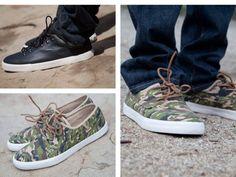Camo Stussy x Converse shoes