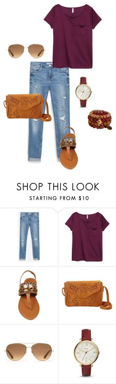 """Untitled #41"" by missmissymermaid on Polyvore featuring H&M, Stella & Dot and FOSSIL"