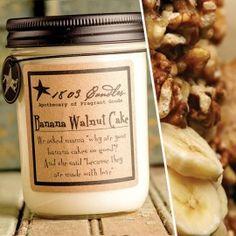 Banana Walnut Cake Soy Jar Candle