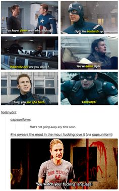 Like remembering our sweet Cap is most definitely a pottymouth. | 23 Times Tumblr's Love For Captain America Got It Right