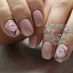 What Christmas manicure to choose for a festive mood - My Nails Natural Nail Designs, Pretty Nail Designs, Nail Designs Spring, Nail Art Designs, Classy Nails, Cute Nails, Pretty Nails, Gel Nail Art, Acrylic Nails