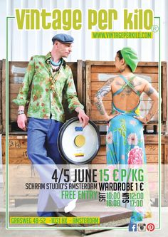 The 4th and 5th of June @Vintageperkilo will be at SchramStudio's Amsterdam. Great NEW categories will be presented in the freshstock, all at just €15 euro per kilo! More info on our website vintageperkilo.com