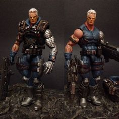 Cable (Marvel Legends) Custom Action Figure by GoldenHAnd_customs Base figure: Stryfe with Punisher head