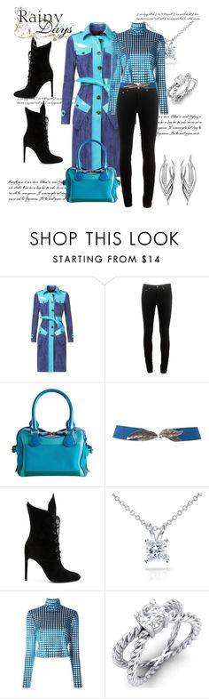 """Burberry Trench with Patent Leather Trim"" by helenaymangual ❤ liked on Polyvore featuring Burberry, rag & bone, Kendall + Kylie, Annello, House of Holland and Shaun Leane"