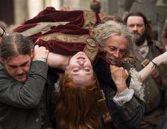 "Geillis Duncan (Lotte Verbeek) in ""The Devil's Mark"" Episode 111 of Outlander on Starz #OutlanderTrial via http://www.farfarawaysite.com/section/outlander/gallery13/gallery.htm"