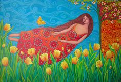 I Greet the Being that dwells in me by Sonia Koch Art Floral, Pagan Art, Flower Art, Art Flowers, Planting Flowers, Mandala, Illustration Art, Backyard, Wallpaper