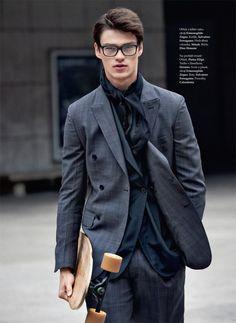 Filip Hrivnak para Elle Man República Checa Fall/Winter 2015 - Male Fashion Trends