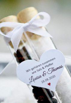 Gastgeschenke zur Hochzeit Salz und Pfeffer Paar im | Etsy