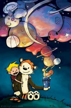 Calvin & Hobbes meet Dr Who - fandom crossover for the win!!