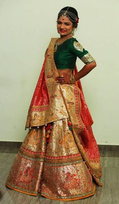 Wedding Lehenga saree - saree.com