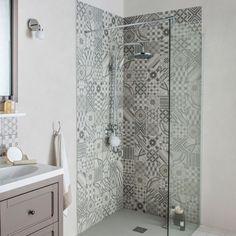 Gulv- og vægfliser grå, ellips dekoration x cm Family Bathroom, Bathroom Wall, Small Bathroom, Bathroom Ideas, Ideal Bathrooms, Rustic Bathrooms, Tile Bathrooms, Bad Inspiration, Bathroom Inspiration