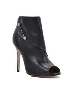 Julesa Peep Toe Leather Ankle Boot