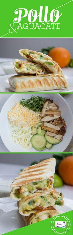 Nos encanta cuidar nuestra figura, pero eso no significa que no podamos disfrutar de las delicias de la cocina.  Necesitarás pollo en fajitas,  Aguacate, queso y si quieres Darle un poco más de sabor Debes agregar especias,  Ponlo en el sartén un par de minutos, Y ¡Listo! Delicia instantánea. #Aguacate #Pollo #Queso #Receta #Salud #Dieta #Primabela #Health