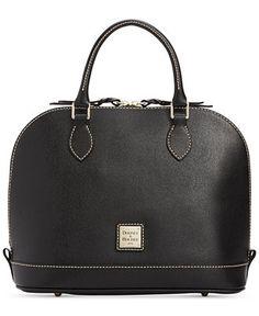 Dooney & Bourke Saffiano Zip Zip Satchel - Dooney & Bourke - Handbags & Accessories - Macy's