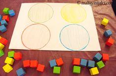 Učim boje s kockicama. Lagano, zabavno i edukativno.