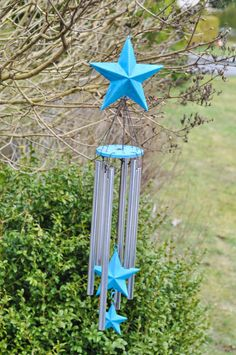Add color & sound to your yard with inexpensive DIY wind chimes.