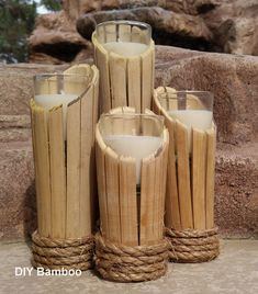 One well-known and timeless home component is the DIY bamboo handicraft. To realize the easy and unique DIY bamboo crafts that you want, one of the first steps Diy Bamboo, Bamboo Light, Bamboo Lamp, Bamboo Crafts, Bamboo Ideas, Diy Décoration, Easy Diy, Bamboo Architecture, Bamboo Furniture