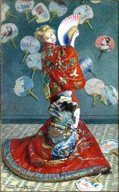 """A história de """"La Japonaise"""" (Camille Monet in Japanese Costume) de Claude Monet"""