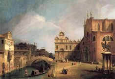 The Athenaeum - Santi Giovanni e Paolo and the Scuola di San Marco (Canaletto - )
