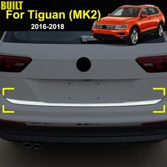 2016-2018 Tailgate Molding Accessories 4M Steel Trunk Strips For Audi Q7