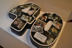 Photo *40* A 40th birthday cake with photos of the first forty years :)