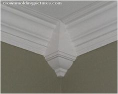 I love this crown molding idea for my grand baby's nursery!