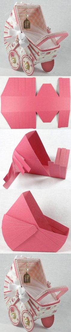 DIY Paper Stroller...would make such a unique 3-D card for the mother-to-be