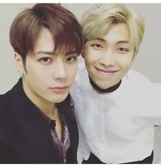 Namjoon & Jackson at AMAs I am here for this friendship rn, I love it, my two bias'