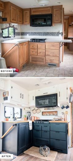Easy RV Camper Remodel Ideas With Before And After Comparison 19 #camperrenovationideas #camperremodelbeforeandafter