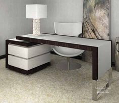 Home Office Table Diy Study 52 Ideas For 2019 Office Furniture Design, Office Interior Design, Living Furniture, Office Interiors, Table Furniture, Home Furniture, Home Office Shelves, Home Office Table, Home Library Rooms