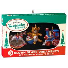 Nifty Fifties Keepsake Ornaments Box of 3 Mini Glass Ornaments