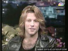 Jon Bon Jovi on The Tonight Show with Jay Leno circa 1994/1995 ♥♫♫♥