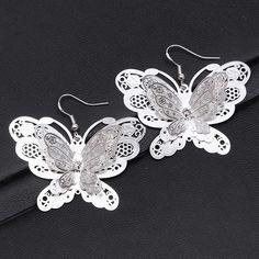 Fashion Women 925 Silver Butterfly Stud Dangle Hoop Earrings Lady Jewelry New | Jewelry & Watches, Fashion Jewelry, Earrings | eBay!