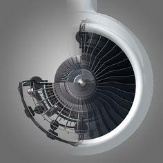 3ds max jet engine cutaway cuts