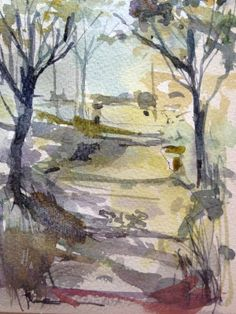 Original Water Colour  Painting 'Woodland Walk'. Signed.